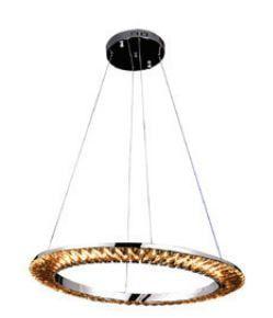 Pendente LED Orbit Metal e Cristal 3000K Quente 30W Ø62 Cor Cromado e Transparente Bella Iluminação ID009C