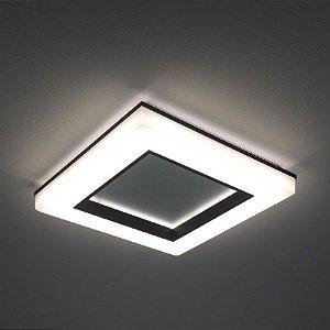 Plafon Pixel Bivolt 127V / 220V LED 3000K 470 x 470 x 70mm Newline 492LED3BT