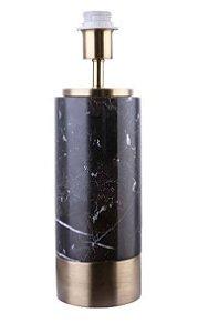 Base para Abajur Marmo 12cmx39cm 1xA60 40W Cor Dourado e Preto Bella Iluminação GL001GB