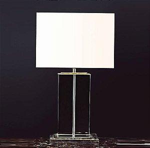 Base para Abajur Classic 15x25x49cm 1xE27 Cor Cromado e Transparente Bella Iluminação XL1115