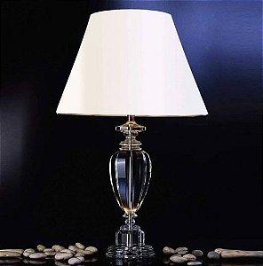 Base para Abajur Classic ø15cm x 55cm 1XE27 Cor Cromado e Transparente Bella Iluminação XL1210