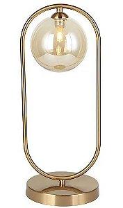 Abajur Cadre Vidro e Metal 17x12x42cm 1xG9 Cor da Estrutura Bronze Cúpula Champagne Quality AB1378BZ