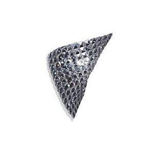 Arandela Arraia Aço Metal Cristal Transparente 36x30cm 1XG9 Halopin Bella HO1338W
