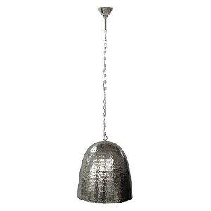 Pendente Fatsa em Metal 21,5xØ20cm 1XE27 Cor Cromado Bella Iluminação GP001C