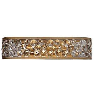 Arandela Champ A10xL14,5xC66 5xE14 Ouro Velho e Transparente Bella Iluminação MR003
