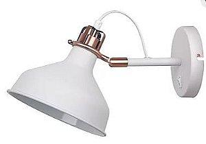 Arandela Metal 1XE27 40W 33,5X19X21cm Branco Quality QAR1154-BR