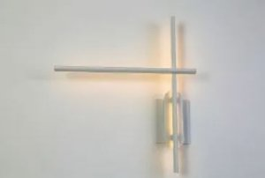 Arandela Cross Branco Text Led 20w 2700K L-48cm C-55cm H11cm Mais Luz AR-094/20.27BF