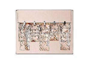 Arandela LED Véu 5,4W 3000K Bivolt 7x19x13cm Rose Gold/ TR Bella HO301