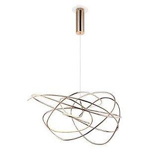 Pendente Ninho Metal 36W  62cm x 44cm 1 x LED Cor Rosê Gold Bella Iluminação WD017L