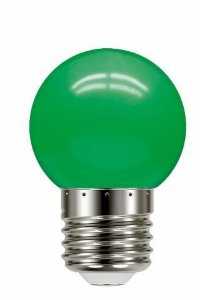 Lâmpada LED Bolinha TBL 05 1W 220V Verde E27 Taschibra 897079045468