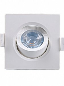 Spot Embutir Quadrado Alltop  MR16 5W 6500K 90x90x45mm Taschibra 7897079083576