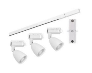 Kit Trilho Direct LED  MR16 18W 3000K 1000x35x19mm Branco Taschibra 7897079084573
