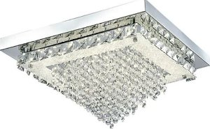 Plafon Madrid Metal/Cristal LED 24W 4000K 42x42x22,5cm Quality QPL882