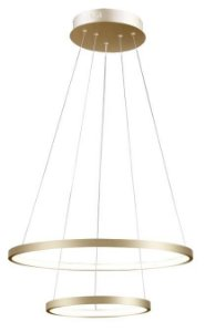 Pendente Montreal LED 25W 15W 2254lm 3000K Ø50/30xA2cm Dourado Quality QPD1301-DO