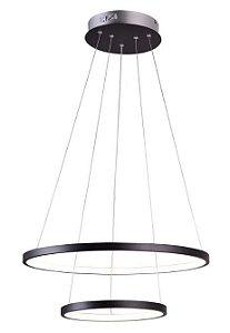 Pendente Montreal Metal 50x30x2cm LED 40W 3000K Cor Preto Casual Light QPD1301-PT