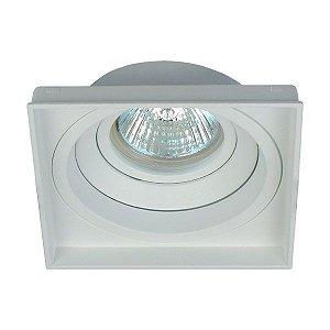 Luminária Embutir Quadrada Recuado No Frame PAR20 E27103x103x38mm Cor Branco Interlight 4714