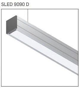 Pendente/Perfil Minimalista Sistema de Iluminação Linear P10 1MT Misterled SLED 9090 P10 D