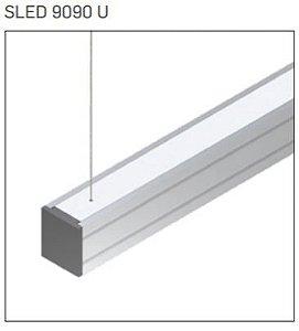 Pendente/Perfil Minimalista Sistema de Iluminação Linear P10 1MT Misterled SLED 9090 P10 U