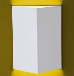 Arandela Flash Meia Face Triângulo Lisa, 01 GU9 Ideal 920