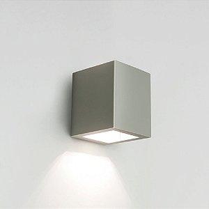 Arandela Quadrada Externas LED 6W 2700K 127V 9X11X10cm Cor Fendi Fosco (Concreto) Newline 9588LED1FF