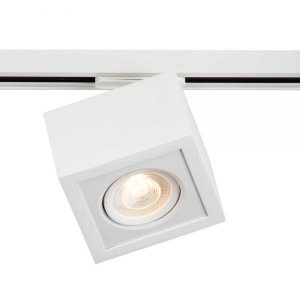 Plafon Box Led 5W 3000K 375LM 127/220V 12x12x12cm Adaptador Branco Total Newline 561ABBT