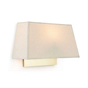 Arandela Little Acabamento Dourado Cúpula em Tecido 30x19x10cm E27 127v/220v Klaxon 3180016DOU