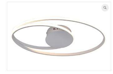 Plafon Occhi Estrutura em Alumínio e Metal LED 44W 54x30x5cm Branco Quality PL1342BR