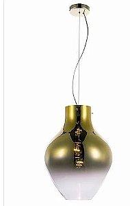 Pendente Metal/Vidro Dourado 1xE27 40W 38x51cm Quality PD1151