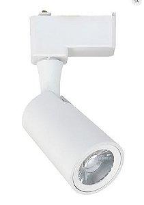 Spot Mark Alumínio Ø5,5x17,5x7,5cm Led 12W 3000K Bivolt Cor Branco Casual Light QSP1372BR