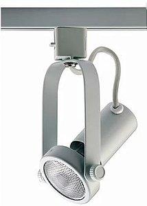 Spot Montana para Trilhos Metal 6,8x10,2x17,3cm 1xE27 PAR20 40W Bivolt Cor Branco Casual Light QSP901-BR