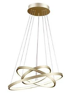 Pendente Montreal  Metal LED 89W 3000K 60x50x40cm Dourado Quality QPD1303-DO