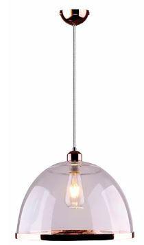 Pendente Orb Acrilico e Metal 34x25cm 1xE27 40W Cor Cobre Casual Light  QPD1227-CO