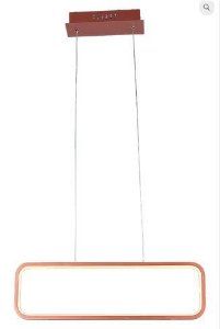 Pendente Recto Retangular 50x15cm Led 26W 3000K Cor Cobre Casual Light QPD1319CO