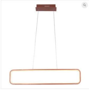 Pendente Recto 70x15cm Led 34W 3000K  Cor Cobre Casual Light QPD1320CO