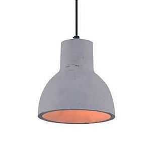 Pendente Sling Metal e Concreto 16x18cm 1xE27 40W Cor Cinza Casual Light PD709