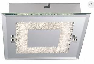 Plafon Valência LED 6W  360lm 4000K 18x18x5,6cm Espelhado Quality QPL910