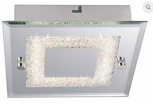 Plafon Valência LED 18W 1440lm  4000K 35x35x5,6cm  Espelhado Quality QPL912