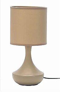 Abajur Verona Cerâmica e Tecido 16x33cm 1xE27 Cor Bege Casual Light QAB916-BG