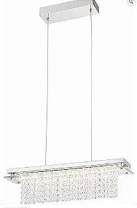 Pendente Versalhes Metal LED 18W 1260lm 4000K 12x70x11,5cm Cromado Quality QPD889