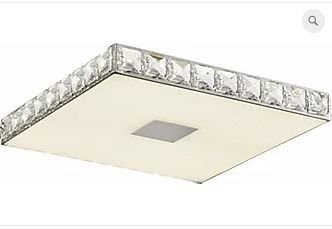 Plafon Zurique Metal 34x34x4,2cm LED 18W 4000K Cor Cromado Casual Light QPL886