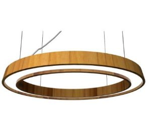 Pendente Slim Cone Oval Madeira Cor 12 Teca 70x6x50cm Accord 1321