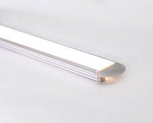 Perfil Embutir de Alumínio Slim Difusor Leitoso Barra 250cm Cor Prata Revoled AP0101