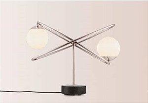 Luminária de Mesa Free Aço Inox Cromado Led G9 Encapsulada ou não 127v/220v 50,5x35,5x26 cm  Klaxon 3180020CRO