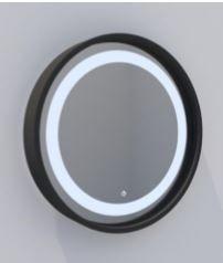 Espelho Mod Elegance com Led -Touch  Ø60cm - Base Preto DNA ESPE-60-PT-EL-TH
