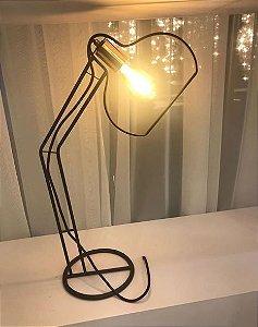 Abajur Luminária Vazada Linha Contemporânea 43x22x65cm Old Artisan ABJ-5116