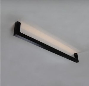 Plafon Cuadro Metal Cor Preto Baixo Retangular 3000K Quente 23W 110 Volts 14x110x4cm Bella Italia PL9130-A-PR