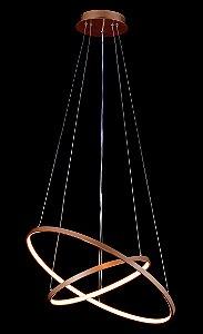 Pendente Φ40×Φ60CM Metal Silicone Led Dourado Fosco 50W 3000K 5000LM Bivolt Sindora DCD015004
