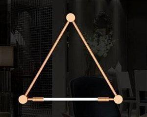 Arandela Luminária Nation Alumínio Cor Cobre  (1 lâmpada) Lâmpada T8 tubular 94x82x4cm Klaxon 3150003COB