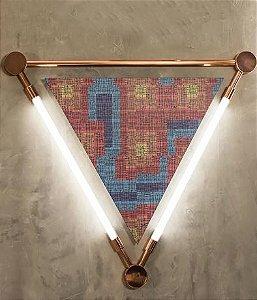 Arandela Luminária Nation Alumínio Cor Cobre (2 lâmpada) Lâmpada T8 tubular 94x82x4cm Klaxon 3150004COB