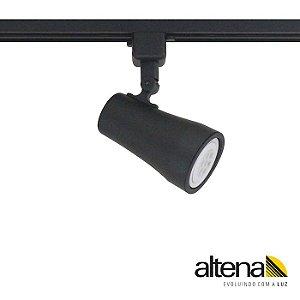 Spot Soft com Plug Altrac para Trilho Eletrificado PAR-20 E27 Preto Fosco Altena ALT05020 PF